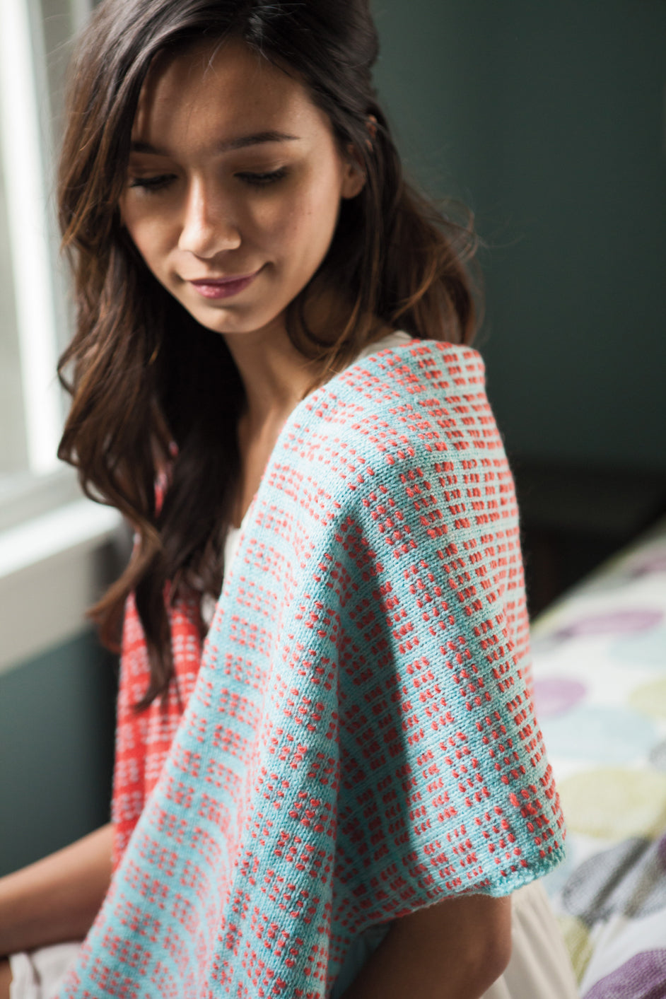 Huckle Wrap knitting pattern by Megan Goodacre