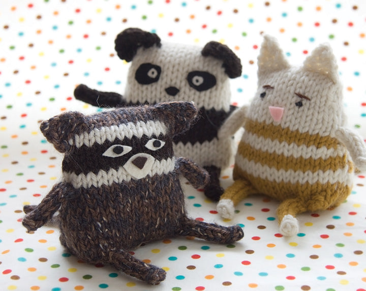 Knitted Friendly Critters Pattern by Megan Goodacre