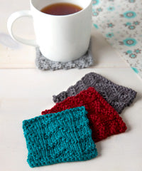 Idiot's Guide Knitting Chevron Coasters