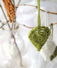 Idiot's Guide Knitting leaf ornaments