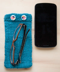 Idiot's Guide Knitting Phone Pouch