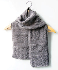 Idiot's Guide Knitting Gansey Scarf