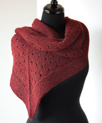 Idiot's Guide Knitting Eyelet Triangular Shawl