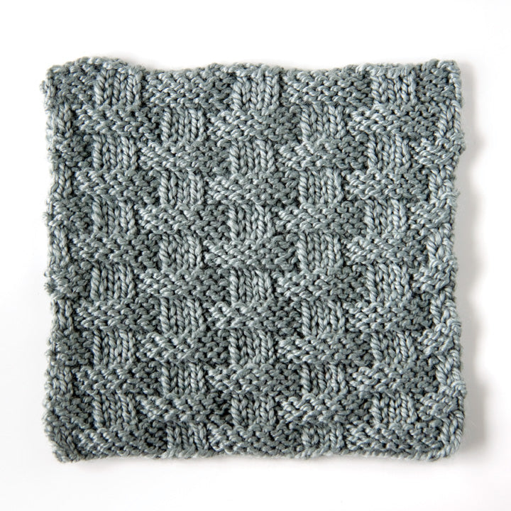 How to knit basketweave stitch