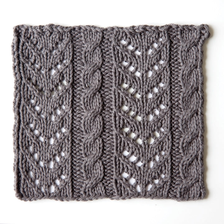 How to knit lace and cable stitch