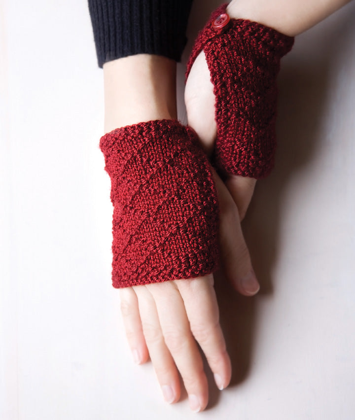 Buttoned Wristlets Knitting Pattern by Megan Goodacre