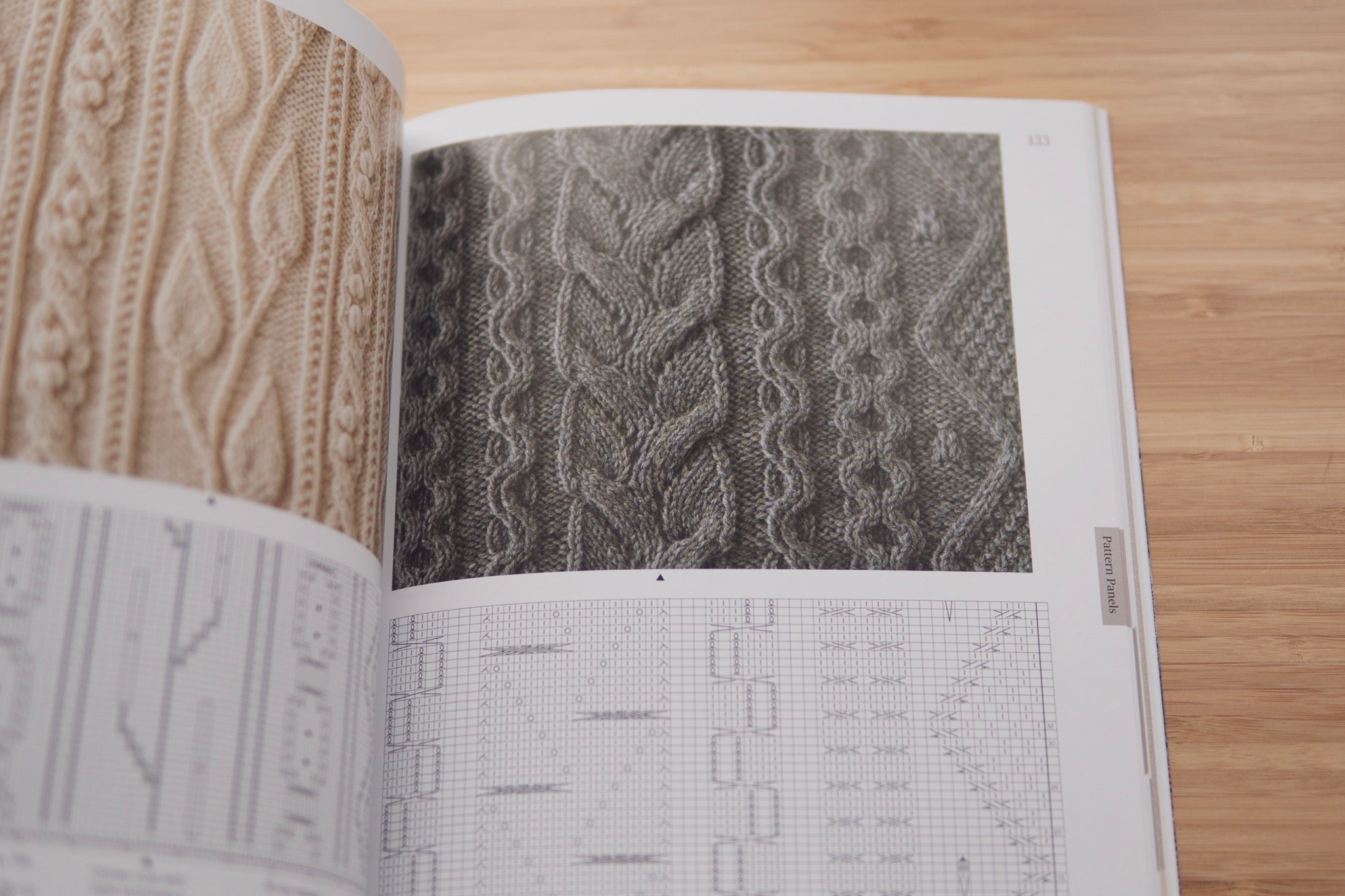 Panel knitting stitch