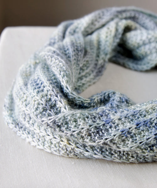infinity scarf on table