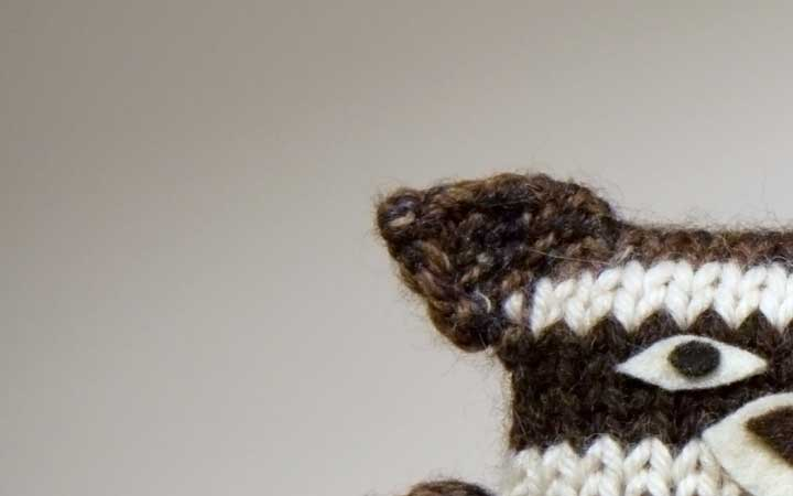 Knitted Raccoon