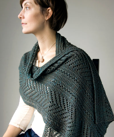 Boiseau Wrap-Downloadable knitting pattern-Tricksy Knitter