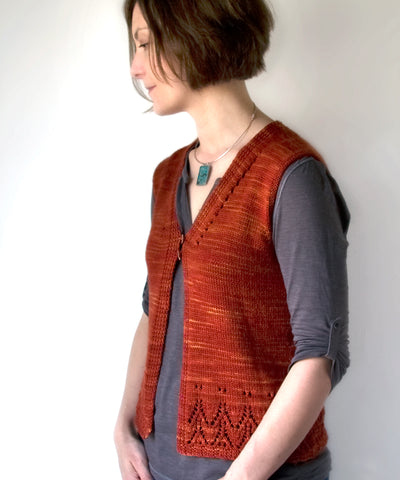 Galiano Vest-Downloadable knitting pattern-Tricksy Knitter