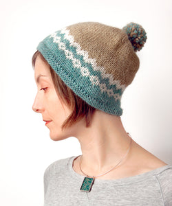 Gatineau Hat-Downloadable knitting pattern-Tricksy Knitter