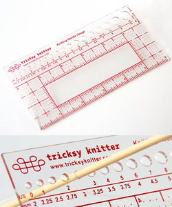Knitting Needle Gauge and Ruler