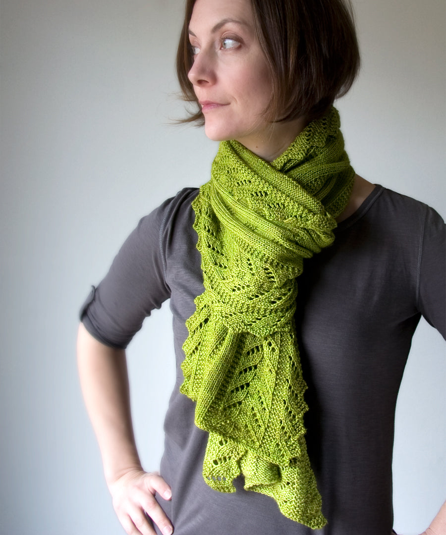 Paravel Wrap-Downloadable knitting pattern-Tricksy Knitter