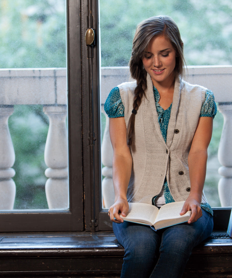 Sherrington Vest-Downloadable knitting pattern-Tricksy Knitter
