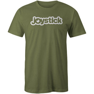 Joystick Bubble Logo Tee - Military Green
