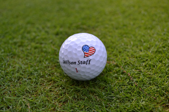 Golf Ball Marker in USA Style. Golfdotz Love USA looks stunning on any ball.