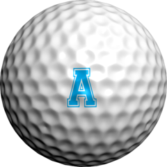 Varsity Alphabet-Aqua Single Sheet - Golfdotz