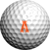Varsity Alphabet-Orange Single Sheet  - Golfdotz