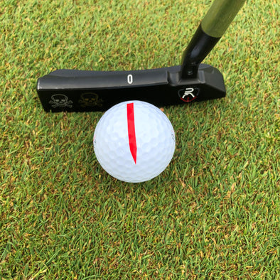 Accuracy Red Putting Alignment Arrows