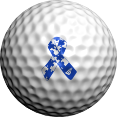 Els Foundation Autism Ribbon - Golfdotz