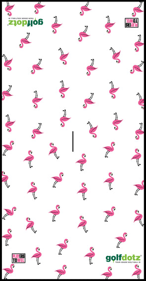 "Custom Golfdotz Flamingo Tour Towel 22"" X 40"""
