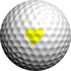 NEON Yellow Hearts & Flowers - Golfdotz
