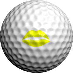 NEON Yellow Hot Lips - Golfdotz