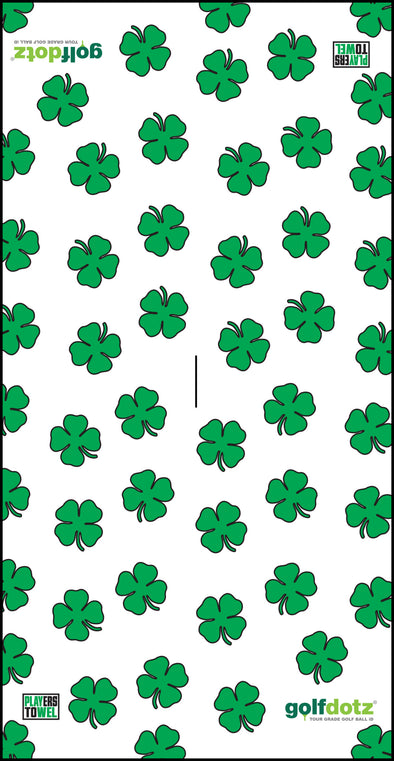 "Custom Golfdotz Lucky Clover Tour Towel 22"" X 40"""