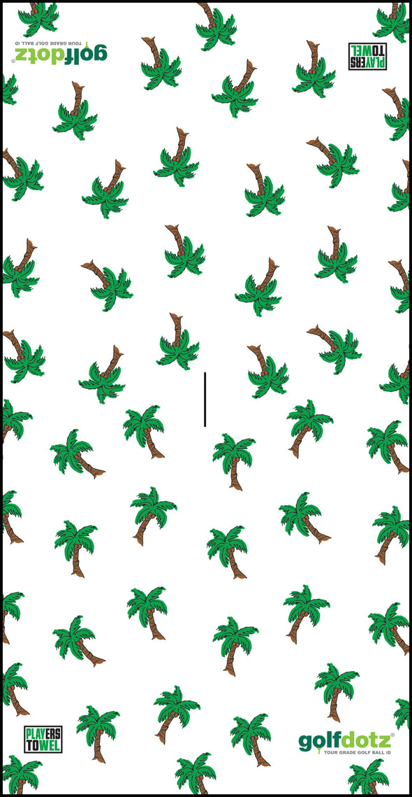 "Custom Golfdotz Palm Tree Tour Towel 22"" X 40"""