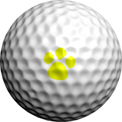 NEON Yellow Paw Prints - Golfdotz