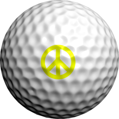 NEON Yellow Peace Signs - Golfdotz