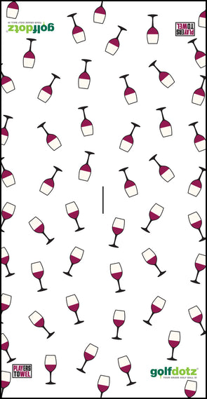"Custom Golfdotz Wine Glass Tour Towel 22"" X 40"""