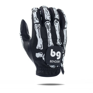 GOLF GLOVE - BONES BLACK - MESH  - CABRETTA