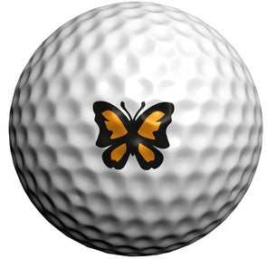 Orange Majestic Butterfly - Golfdotz