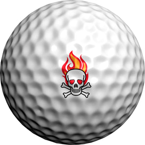 Flaming Skulls - Golfdotz