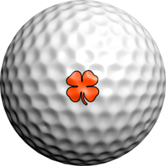NEON Orange Lucky Clovers - Golfdotz