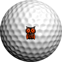 NEON Orange Hootie  - Golfdotz