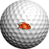 NEON Orange Piranhas - Golfdotz