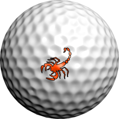 NEON Orange Scorpion - Golfdotz