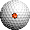 NEON Orange Be Happy - Golfdotz