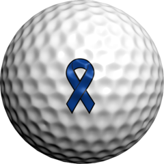 Navy Blue Ribbon - Golfdotz