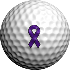 Purple  Ribbon. ALZ - Golfdotz