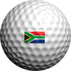 South African Flag  - Golfdotz