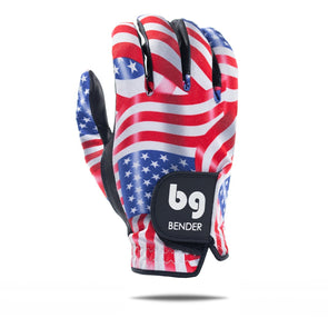 GOLF GLOVE - USA (LIBERTY) SPANDEX - CABRETTA