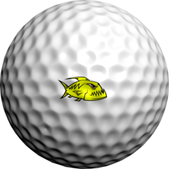 NEON Yellow Piranhas - Golfdotz