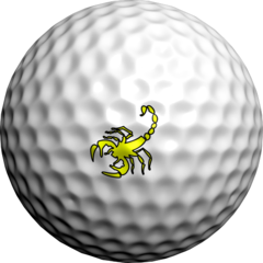 Neon Yellow Scorpion - Golfdotz