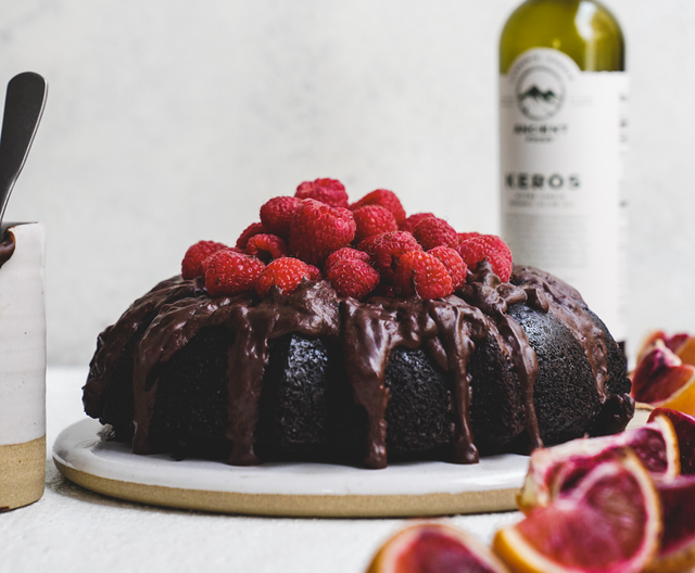 Chocolate Brownie Olive Oil Bundt Cake