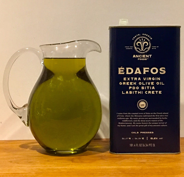 ÉDAFOS PDO Extra Virgin Greek Olive Oil, 3L Tin