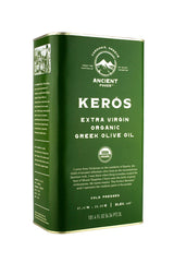 KERÓS USDA Organic Extra Virgin Greek Olive Oil, 3L Tin
